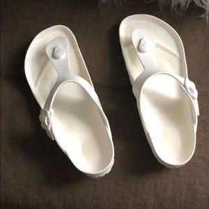 White rubber Birkenstock's , authentic!!